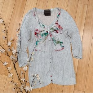 Anthropologie Guinevere Bow front cardigan, M.